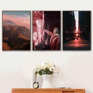 Image 3 - ブルックリンブリッジ山の花風景ウォールアートキャンバス絵画北欧ポスターやプリント壁の写真リビングルームのインテリア