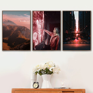 Image 3 - גשר ברוקלין פרח הר נוף קיר אמנות בד ציור נורדי והדפסי קיר תמונות לסלון דקור
