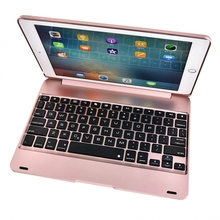 Nueva funda delgada con Bluetooth para iPad Air 2/iPad 6, funda para teclado, protección completa inalámbrica, funda ABS para teclado Apple iPad Air 2