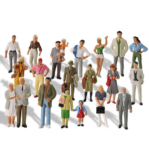 Image 3 - 20pcs All Standing 1:43 Scale Painted Figures O scale People Railway Figures Scenery Model Railway