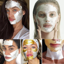 25 шт. один буклет 12 К платины уход за кожей лица маска 8X8 см 50% золото и серебро 50% нежный и глянцевый для кожи сделать кожу более