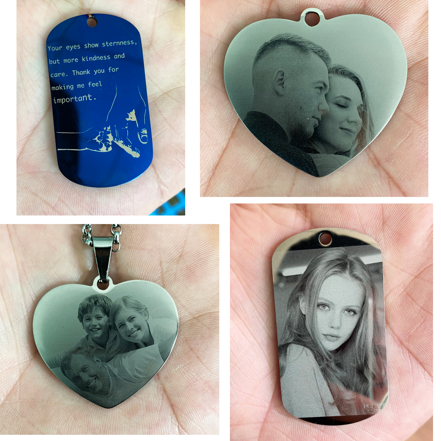4 Colors Customized Engrave Text Stainless Steel Pendant rectangle Shape ID Tag Accept 1pcs Customize VD 002 in Pendant Necklaces from Jewelry Accessories