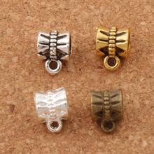 Butterfly Connectors Bails Beads Fit Charm European Bracelet L692 50pcs 9.6x7.1mm 4Colors Antique Silver/Bronze/Gold