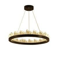 Remote Nordic luxury Natural Crystal Pendent Lamp Circular Minimalist Designer Restaurant Household Hall Lamps