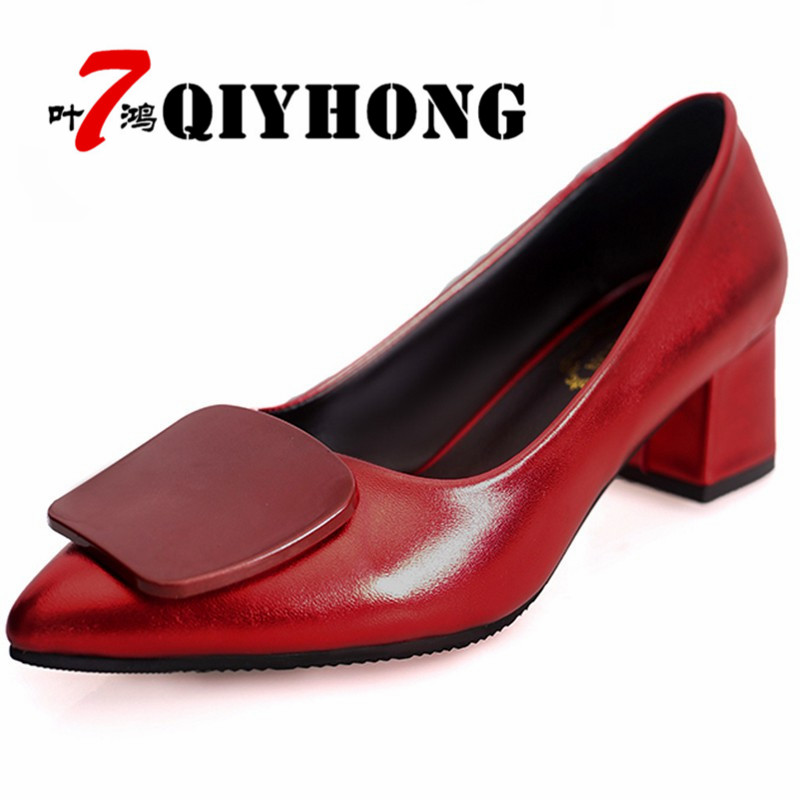 2018 صيف جديد للمرأة أحذية سميكة مع - أحذية المرأة