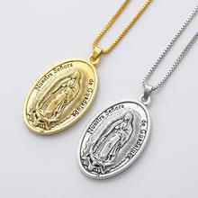 Saint Maria de Guadalupe DIVINO NINO Reinare Antique Silver/Gold Pendant Necklaces 24Inches N330
