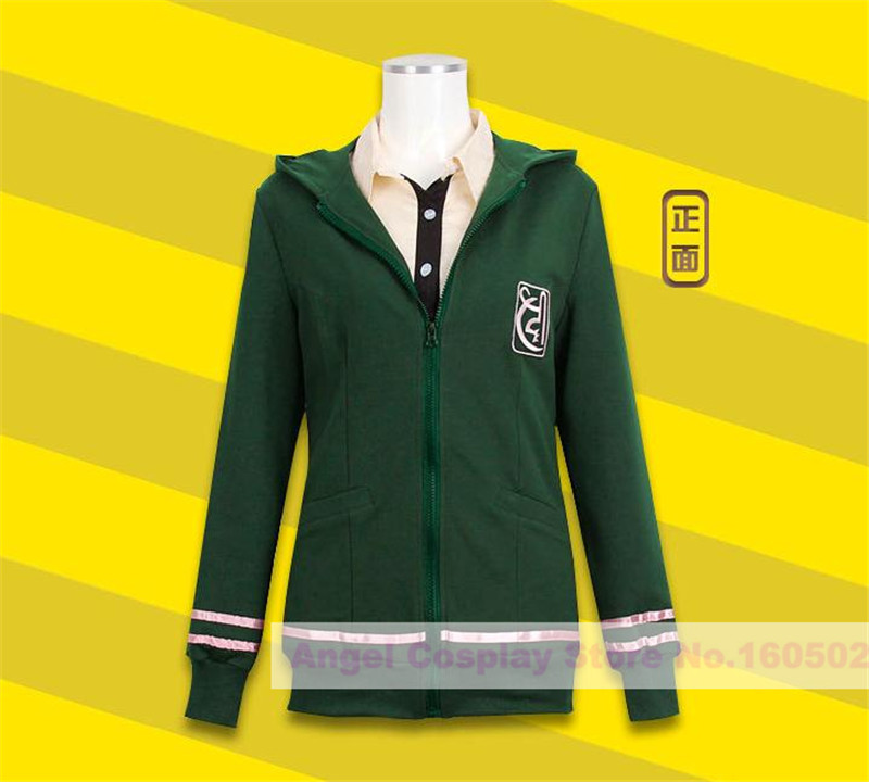 Anime Super Danganronpa2 Chiaki Nanami Cosplay Costume Hoodie Cotton Zipper Jacket Japanese school uniform Coat Free shipping