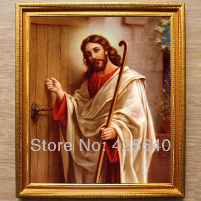 Jesus Knocking at the Door Oil painting on canvas hight Quality Hand-painted Painting  sc 1 st  AliExpress.com & Jesus Knocking at the Door Oil painting on canvas hight Quality Hand ...
