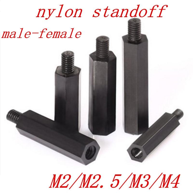 10 PCB Spacers Nuts Nylon Plastic 6//32 Nut for Standoffs Screws