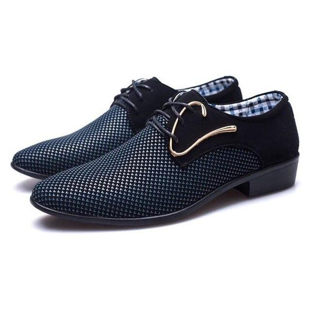 מדד המחירים לצרכן 2018 מעצב חדש אביב טלאי נעלי השמלה של אנשי עסקים hairstylis גברים נוחים נעלי נעלי שמלת כלה ZY-01 1