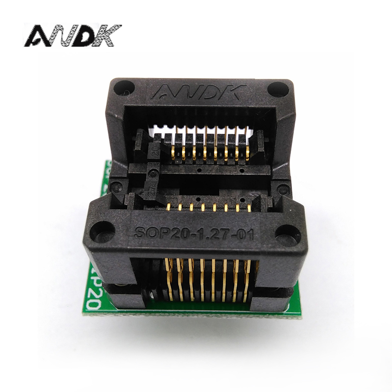 SOP16 SOIC16 SO16 to DIP16 Programming Socket Pitch 1.27mm IC Body Width 5.4mm 209mil Test Socket Adapter mc14049ubdr2g sop16