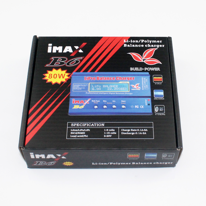 IMAX B6 80W 2S~6S Lipo Battery Balance Charger for RC Helicopter Plane Car Boat skyrc imax b6 2s 6s 7 4v 22 2v lipo battery chargernimh battery balance charger for rc quadcopter nimh nicd rechargeable battery