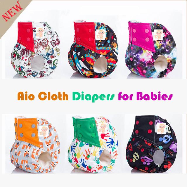 Calidad estupenda aio pañales de tela reutilizables pañales del paño del bebé, un tamaño ai2 pañales de tela única para los recién nacidos hasta $ number libras