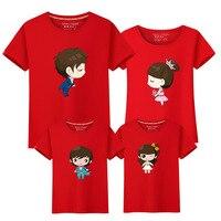 Summer 2017 New Pattern Parenting Dress Family Dress Cartoon Lovers T Shirt Jacket School Uniform Show