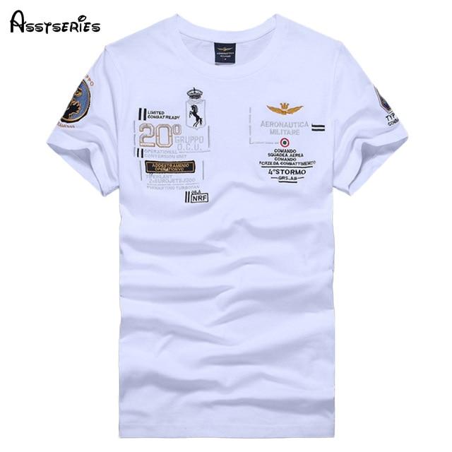 Embroidery Militare Homme 2018 Men Shirt Sleeve Short Aeronautica 5A4L3Rj