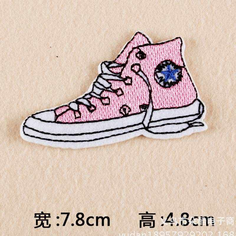 Cartone Animato per Bambini Fresco di Destinazione di Scarpe Originale di Disegno Ferro Sui Vestiti di Patch Patch per Le Ragazze Dei Vestiti Dei Ragazzi di Patch Ricamato
