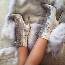 Sexy Silver Grey Velvet Short Boots Women Pointed Toe Ankle Boots Lace-up Thin High-heeled Gladiator Sandal Boot Side Zipper european style sexy wine red suede thin high heel short boots lace up high cut slim fit sandal booties peep toe short dress boot