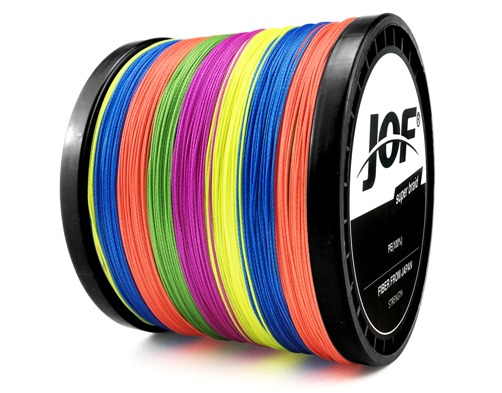 Multicolor 8 Strands 300M 500M 1000M PE Braid Fishing Line Sea Saltwater Fishing Weave 100% SuperPower JOF 25