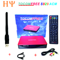 Receptor de Satélite TOCOMFREE S929 ACM ACM H.265 WiFi IPTV DVB-S2 Sintonizador Gemelo SKS IKS Para América Del Sur mejor tocomfree s989