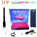 TOCOMFREE S929 ACM Wi-fi Receptor de Satélite DVB-S2 Sintonizador duplo IKS SKS IPTV ACM H.265 Para América Do Sul melhor tocomfree s989