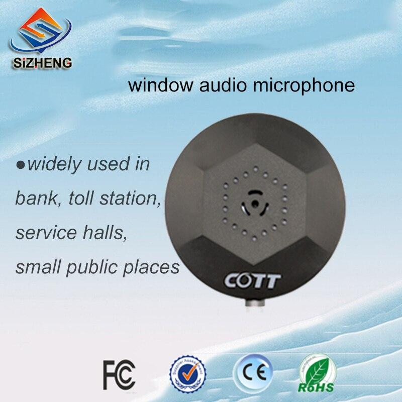 SIZHENG COTT C1 2pcs/lot Windows audio microphone voice pick up device for video surveillance cameras security system
