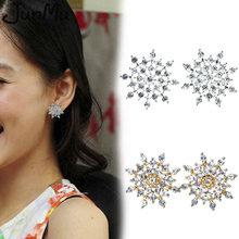 Hot Fashion 2018 Girls Earing Sliver Snowflake Stud Earrings For Women Wedding Jewelry Earings(China)