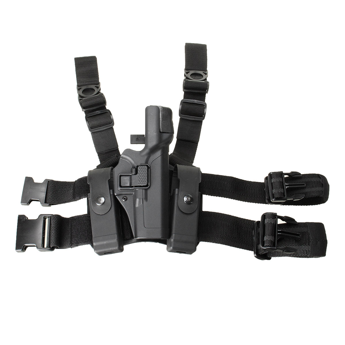 ФОТО Tactical Right Drop Leg Thigh Level 3 Lock Duty Pistol Holster 17 19 22 Tactical Military Airsoft Pistol Gun Thigh Holster