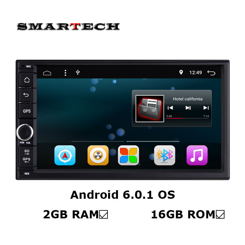 SMARTECH 2 din Android 6 0 1 Car stereo radio head unit 2G RAM 16G ROM