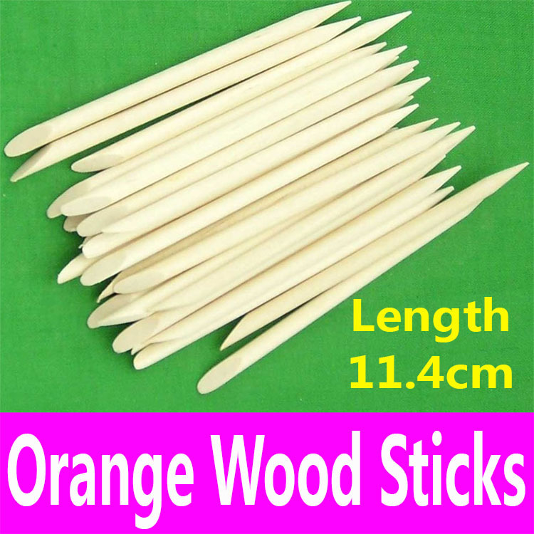 1 piece Nail Art Dotting Tool Orange Wood Sticks Cuticle Pusher ...