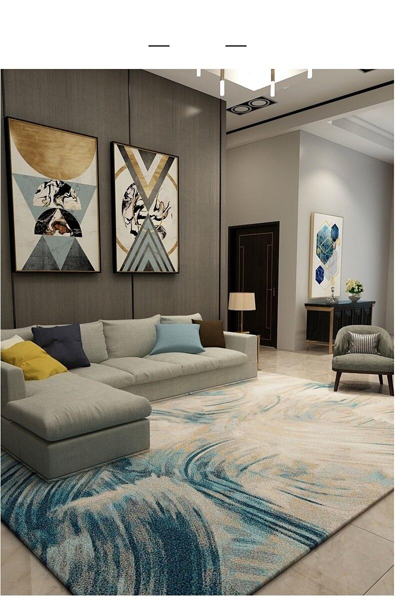 Light Luxury Carpets For Living Room Nordic Carpet Bedroom ...