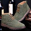 Homens Martin Botas de Camurça Botas Masculinas de Couro Genuíno de Alta Top Ferramental Brockden Esculpida Sapatos Além de Veludo