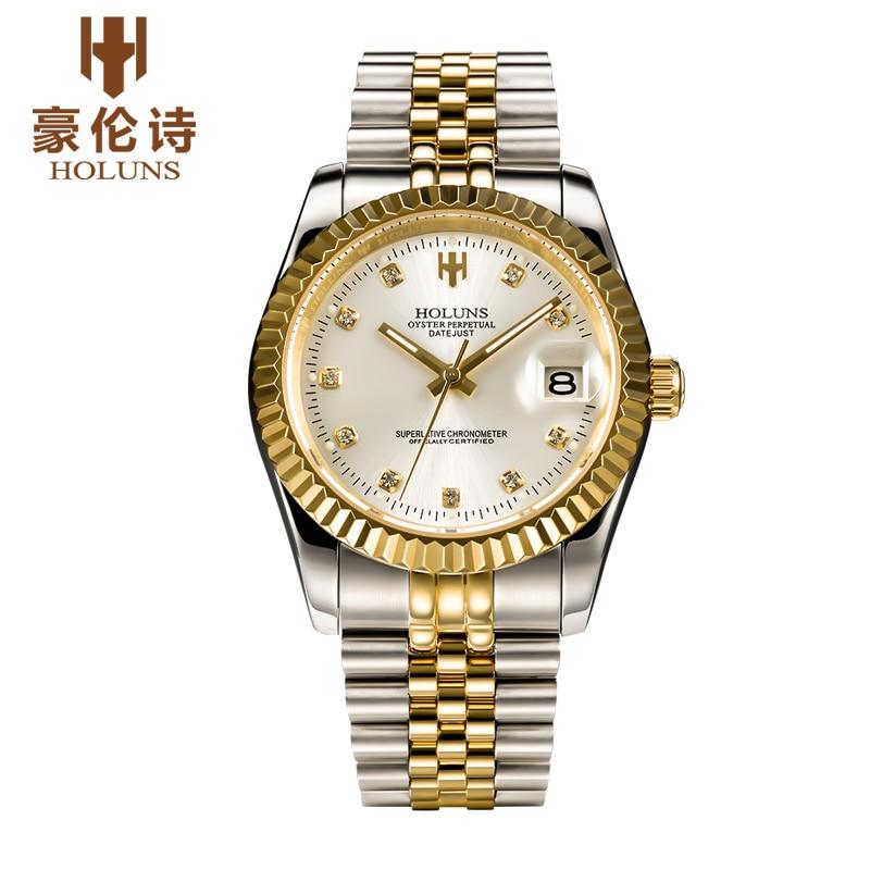 ФОТО HOLUNS R002 Watch Geneva Brand oyster perpetual datejust series men's luxury automatic mechanical 116231 relogio masculino