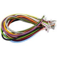 """Pandahall 50 sztuk/partia 17 """"5mm mieszane kolor Silk Cord naszyjnik Making z mosiądzu zapięcia do DIY Craft biżuteria ustalenia akcesoria"""