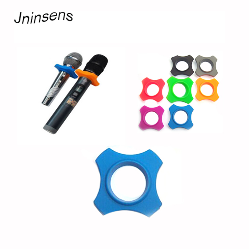 New Anti Slip Microphone Protection Soft Silicone Skid Proof Mic Anti-slip Base Non-skid Rolling KTV Replacement Mic Accessories