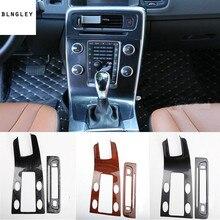 2 шт./лот ABS углеродное волокно зерна или деревянные зерна Центральная панель управления декоративная крышка для- Volvo S60