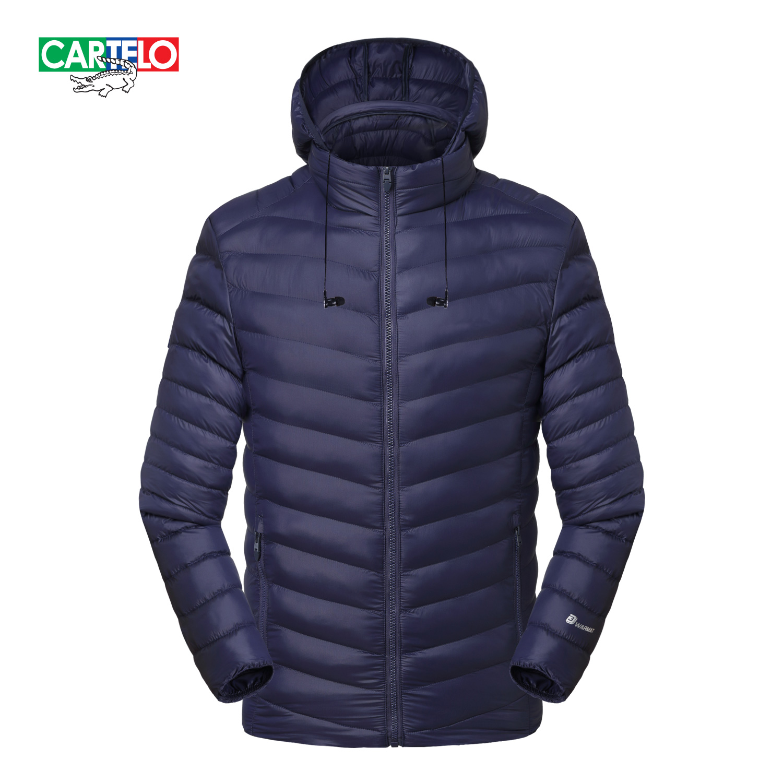 CARTELO Mens Winter Jackets parkas Coats Cotton-padded Jacket Men's Fashion Leisure Ultra Light Down Jacket Men K7MSD0909