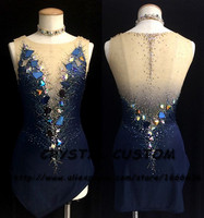 Кристалл пользовательские фигурное катание платье для девочек; Новинка Марка Катание на коньках одежда для конкуренции DR4714