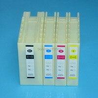 4 farbe IC93 IC93XL volle compatiblel tintenpatrone mit dye tinte Für Epson WorkForce PX M7050 PX S7050 M860F S860 drucker-in Tintenpatronen aus Computer und Büro bei