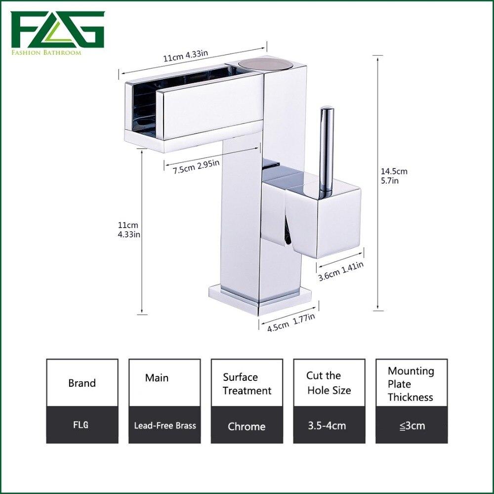 FLG livraison gratuite contrôle de température LED bassin robinet robinet d'eau cascade robinet salle de bains robinets 3 couleurs robinet à LED 127-11C - 6