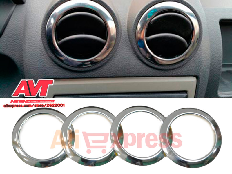 Chrome cap on air deflectors for Dacia Duster 2010 2017 stainless steel font b interior b