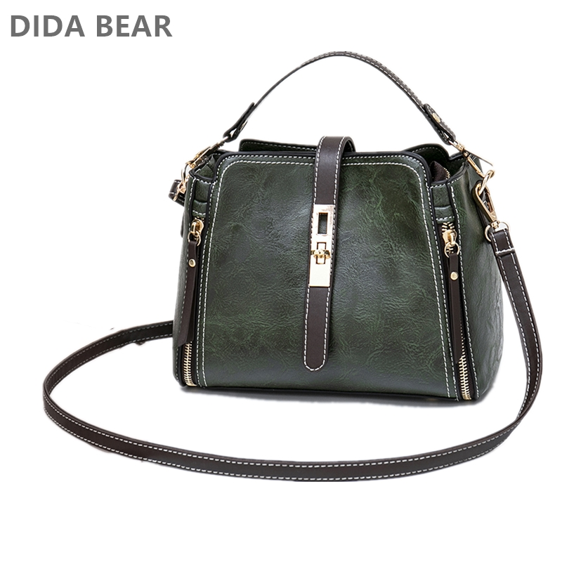 DIDABEAR Women's Bag Women Leather Handbags Vintage Lady Hand Bags Women Messenger Shoulder Bag Small Purse Sac A Main Bolsa