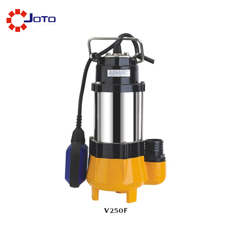 250W 130L/min 7m Light 220V Stainless Steel Submersible Water Pump Small Automatic Sewage Pump Waste Water Pump