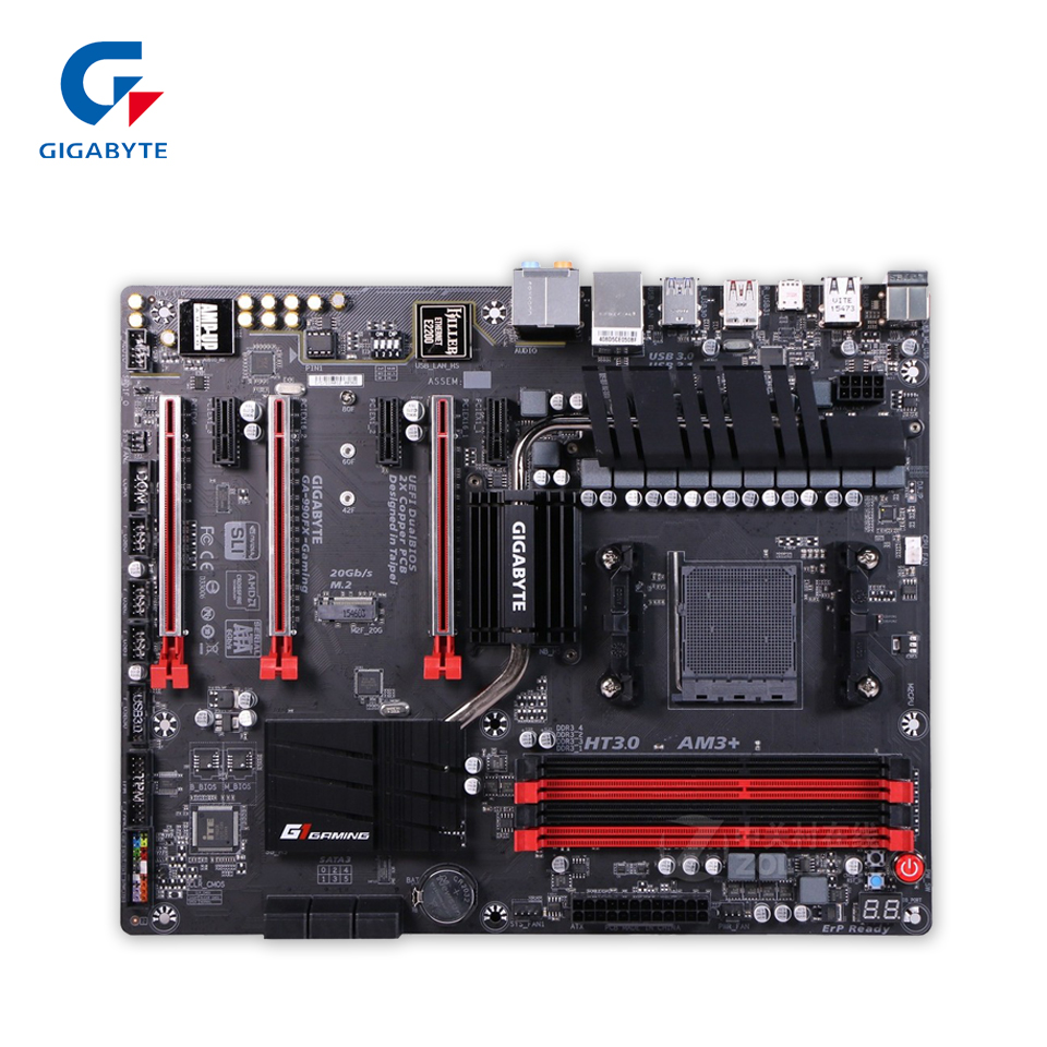 Gigabyte GA-990FX-Gaming Desktop Motherboard 990FX Socket AM3+ DDR3 SATA3 USB3.0 ATX gigabyte ga 870a usb3 original used desktop motherboard amd 870 socket am3 ddr3 sata3 usb3 0 atx
