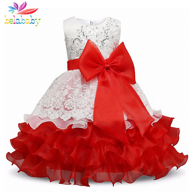 Belababy Princess Girl Dress 2017 New Summer Children Sleeveless Sequin Embroidery Vestidos Kids Girls Flower TUTU Party Dresses summer 2017 new girl dress baby princess dresses flower girls dresses for party and wedding kids children clothing 4 6 8 10 year