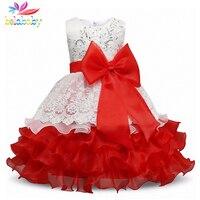 Belababy Princess Girl Dress 2017 New Summer Children Sleeveless Sequin Embroidery Vestidos Kids Girls Flower TUTU