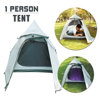 Outdoor Portable 20D waterproof Beach Tent Camping Tent for 1 Person double Layer Silicon Nylon Tents PU3000mm Carry Bag Travel