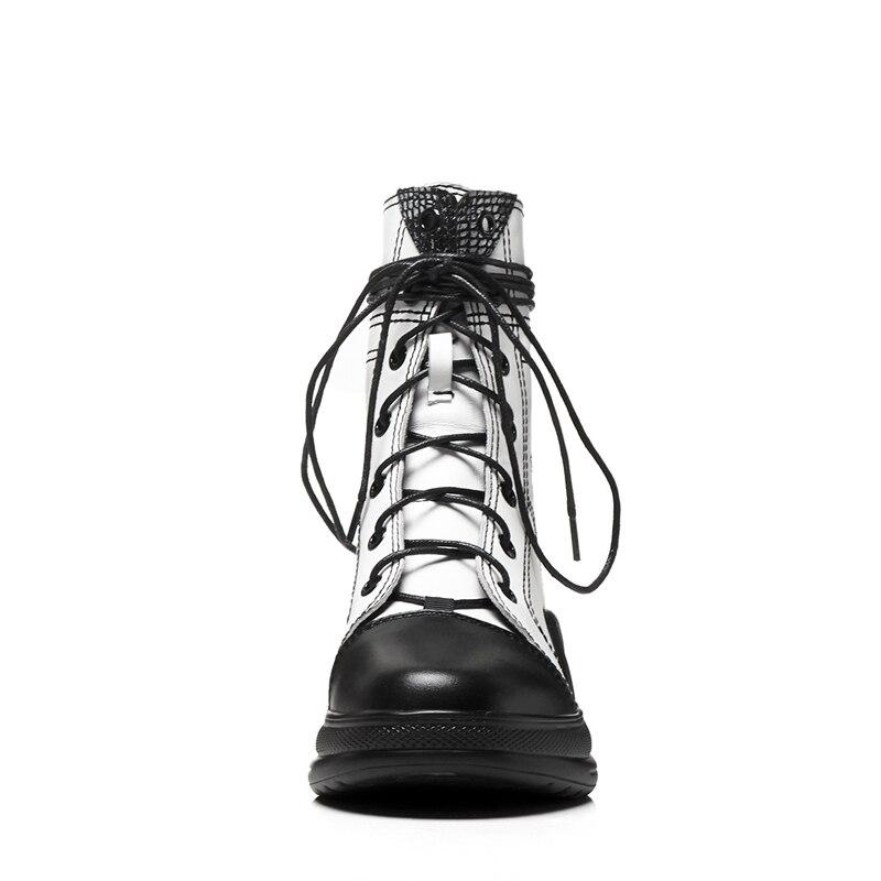 Up Con Size Lace 34 Scarpe Black Moda Rotonda Stivali Donne