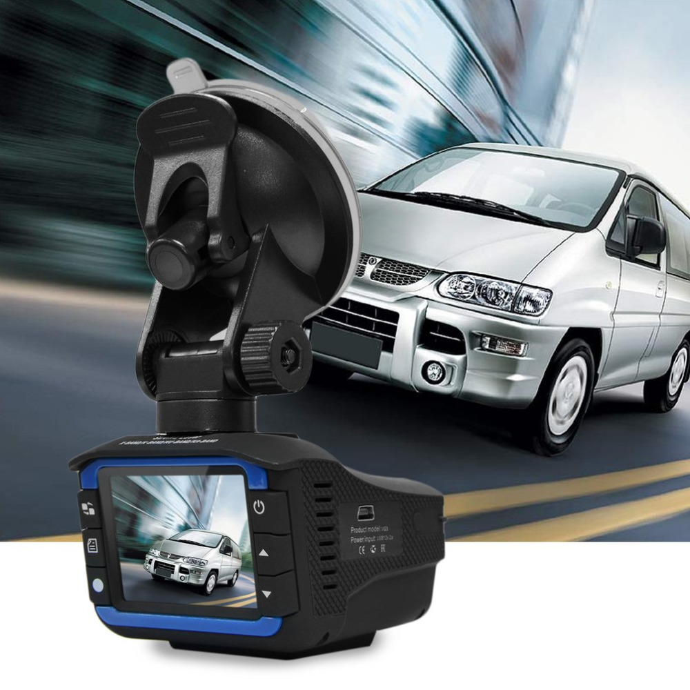 2 in 1 Car DVR Dash Cam Video Radar Speed Detector Night Vision Radar Detection 2 Inch HD LCD Display 720P Support 32G TF