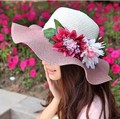 2017 new sun hat casual Summer hats for Women's Ladies' Foldable Wide Large Brim Floppy Beach Hat Sun Straw Hat Cap Women