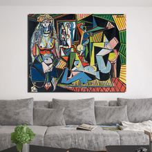 Women Of Algiers Pablo Picasso Wall Art Canvas Painting Posters Prints Modern Painting Wall Pictures For Living Room Home Decor
